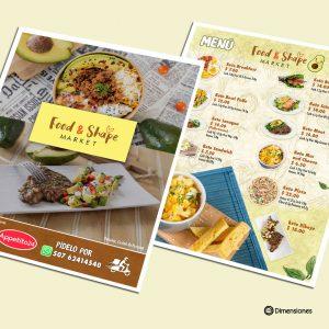 Food and Shape Menu